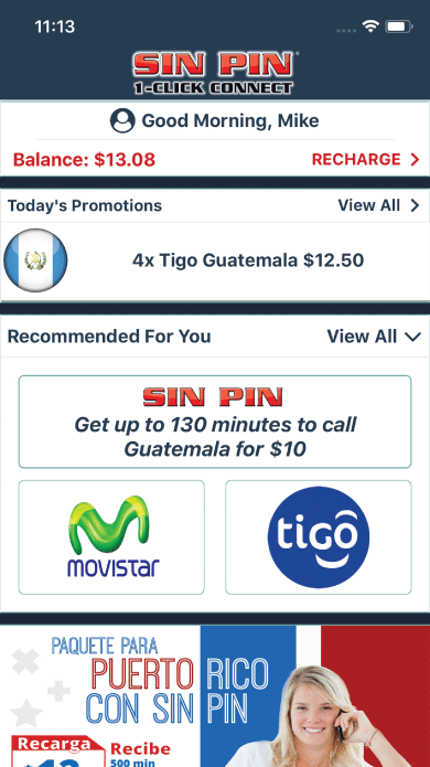 Mobile Recharge International & Domestic Carriers | Sin Pin